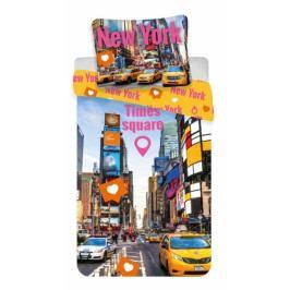 Jerry Fabrics povlečení bavlna fototisk Times Square 140x200+70x90 cm