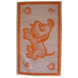 Dadka dětský froté ručník Pejsek oranžový 30x50 cm