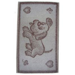 Dadka dětský froté ručník Pejsek hnědý 30x50 cm