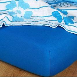 Dětské prostěradlo jersey modř královská 60x120 cm