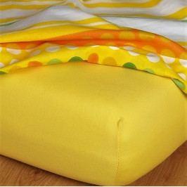 Dětské prostěradlo jersey tmavě žlutá 60x120 cm