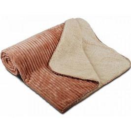 Svitap deka mikrovlákno OVEČKA Manžestr sv.hnědá 150x200 cm