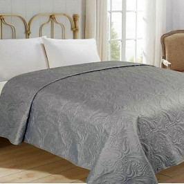 Jahu přehoz na postel jednobarevný na dvoulůžko 220x240 cm uni šedý