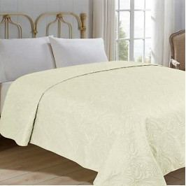 Jahu přehoz na postel jednobarevný na dvoulůžko 220x240 cm uni béžový