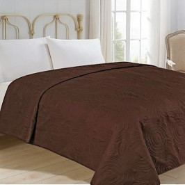 Jahu přehoz na postel jednobarevný na dvoulůžko 220x240 cm uni hnědý