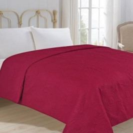 Jahu přehoz na postel jednobarevný na dvoulůžko 220x240 cm uni vínový