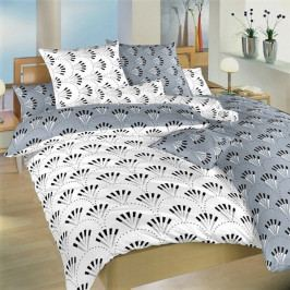 Dadka povlečení bavlna Gabru bílý/šedý DUO  140x200+70x90 cm
