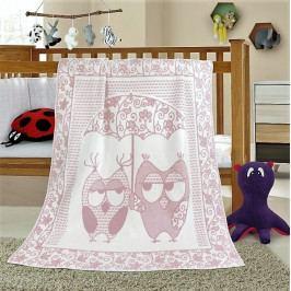 Bellatex dětská bavlněná deka Nela 100x140 cm sova růžová