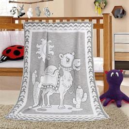 Bellatex dětská bavlněná deka Nela 100x140 cm velbloud