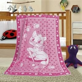 Bellatex dětská bavlněná deka Nela 100x140 cm kočička