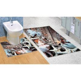 Bellatex koupelnové předložky 3D tisk mořské lastury sada 60x100+60x50 cm