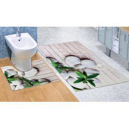 Bellatex koupelnové předložky 3D tisk Jadran sada 60x100+60x50 cm
