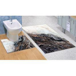 Bellatex koupelnové předložky 3D tisk šedý mramor 60x100+60x50 cm