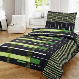 Jahu povlečení bavlna 1 zeleno černé 140x200+70x90 cm