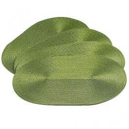 Jahu prostírání ovál tmavě zelená 30x45 cm