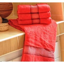 Polášek mikrofroté ručník Dita červená 50x100 cm