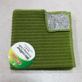 Utěrka z mikrovlákna s drátěnkou zelená