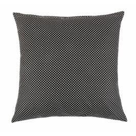 Bellatex polštář dekorační RITA 40x40 cm puntík černobílý
