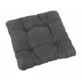 Bellatex sedák prošívaný Adéla 40x40 cm puntík černobílý