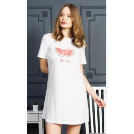 Dámská noční košile s krátkým rukávem Summer Velikost S, Barva smetanová