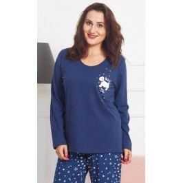 Dámské pyžamo dlouhé Westík Velikost 1XL, Barva tmavě modrá