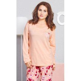 Dámské pyžamo dlouhé Sofie Velikost 1XL, Barva azurová