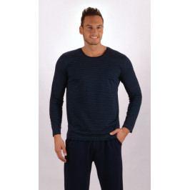 Pánské pyžamo dlouhé Šimon Velikost 2XL, Barva modrá/červená