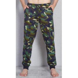 Pánské pyžamové kalhoty Aleš Velikost M, Barva zelená