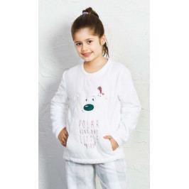 Dětské pyžamo dlouhé Polar bear Velikost 7 - 8, Barva bílá