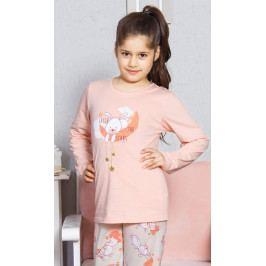 Dětské pyžamo dlouhé Králík velký Velikost 9 - 10, Barva meruňková