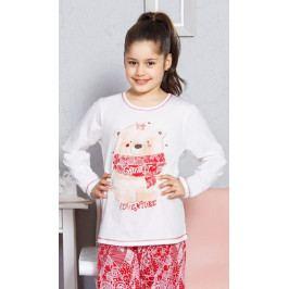 Dětské pyžamo dlouhé Adventure velké Velikost 9 - 10, Barva smetanová