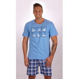 Pánské pyžamo šortky Kamasutra Velikost M, Barva světle modrá