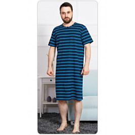 Pánská noční košile s krátkým rukávem Eduard Velikost S, Barva tmavě modrá