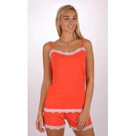 Dámské pyžamo šortky na ramínka Jasmína Velikost S, Barva korálová