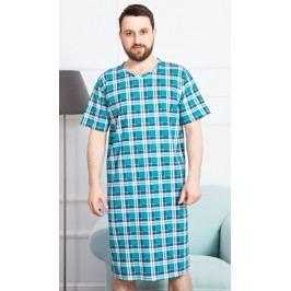Pánská noční košile s krátkým rukávem Karel Velikost M, Barva petrolejová