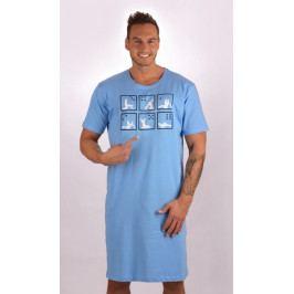 Pánská noční košile s krátkým rukávem Kamasutra Velikost M, Barva světle modrá