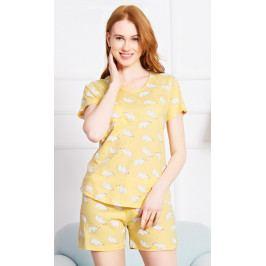 Dámské pyžamo šortky Lední medvědi Velikost S, Barva žlutá