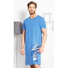Pánská noční košile s krátkým rukávem Tenisky Velikost M, Barva šedá