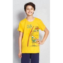 Dětské pyžamo kapri Prázdniny Velikost 9 - 10, Barva žlutá