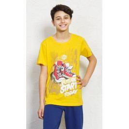 Dětské pyžamo kapri Tenisky Velikost 9 - 10, Barva žlutá