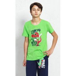 Dětské pyžamo kapri Krokodýl Velikost 3 - 4, Barva červená