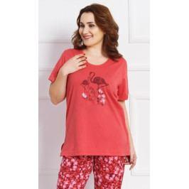 Dámské pyžamo kapri Petra Velikost 1XL, Barva korálová