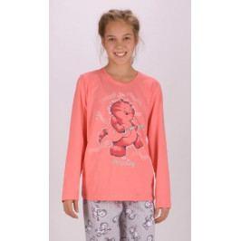 Dětské pyžamo dlouhé Kocour Velikost 9 - 10, Barva meruňková