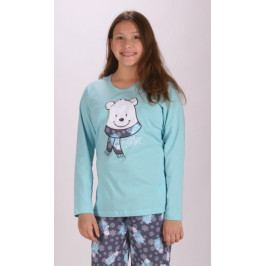 Dětské pyžamo dlouhé Medvídek Velikost 11 - 12, Barva lososová