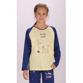 Dětské pyžamo dlouhé Malí králíci Velikost 9 - 10, Barva banánová
