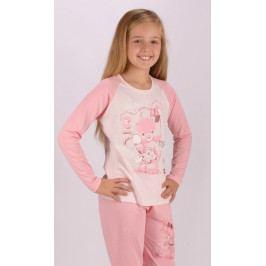 Dětské pyžamo dlouhé Koala s mašlí Velikost 3 - 4, Barva světle růžová