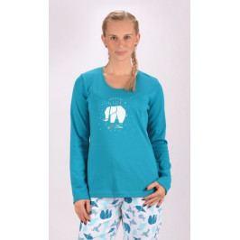 Dámské pyžamo dlouhé Elephant Velikost S, Barva modrá