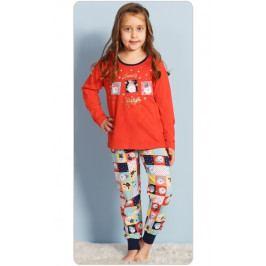 Dětské pyžamo dlouhé Vánoce Velikost 3 - 4, Barva červená