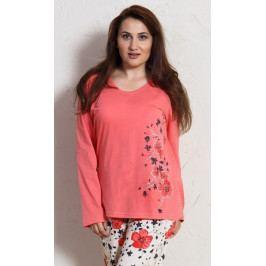 Dámské pyžamo dlouhé Fiona Velikost 2XL, Barva lososová
