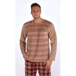 Pánské pyžamo dlouhé Tomáš Velikost M, Barva hnědá